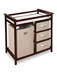 Modern Changing Table with 3 Baskets and Hamper - Color: Cherry BOBEBE Online Baby Store From New York to Miami and Los Angeles