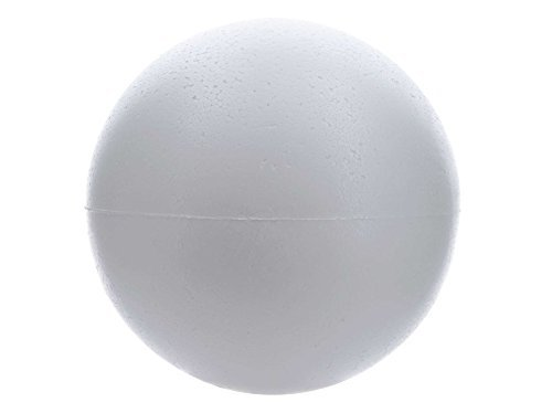 "Smooth Foam Balls for Arts & Crafts Floral Wedding Decor Science Modeling and School Projects (8"" Inch - 1 Balls) (8 inch)"