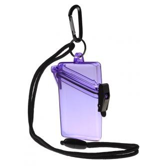 Witz See It Safe Small Purple Waterproof ID Badge Holder Spo