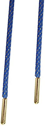 レースAvenue高品質ブルーandゴールドロープShoelaces withゴールドAglets–Comes WithレースAvenueレースロック(ブルー/ゴールド/ 115cm