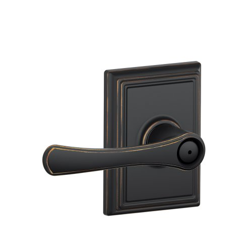 Schlage F40 VLA 716 ADD 16-080 10-027 134 N N SL Addison Collection Avila Bed and Bath Lever, Aged (Bronze Addison Button)