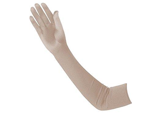 Vijiv 1920s Glove Opera Satin Long 20s Gatsby Flapper Gloves 22