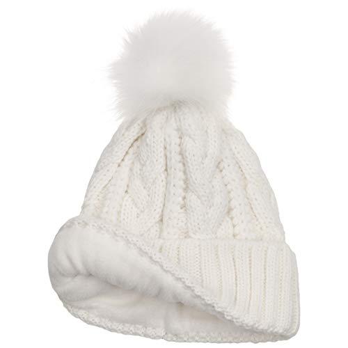 Risvolto Autunno Cable In Fodera Invernale Crema Fodera Mcburn inverno Made Italy Risvolto Bianco Lana Donna Lavorato Berretto Maglia Beanie Con Knit A 0nqwCgqUxZ