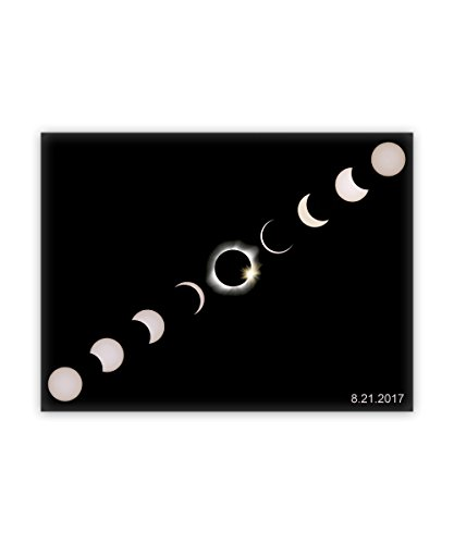 Forever Framed Panel Print - Total Solar Eclipse Summer August 21st 2017 Modern Framed Canvas - Wall Art Decor Ready to Hang for Bedroom Living Room Home And Office Decorations (18x24-inch)