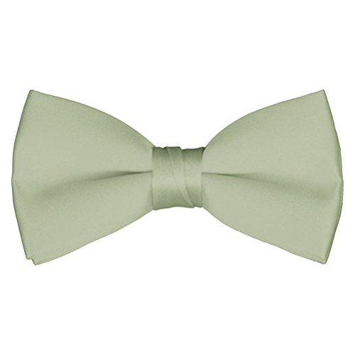 Adult & Boys' Deluxe Satin Adjustable Bow Tie By Tuxgear (Mens, Sage (Coral Sage)