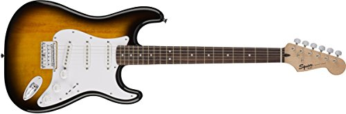 Squier By Fender Bullet Stratocaster Electric Guitar   Hard Tail   Rosewood Fingerboard   Brown Sunburst