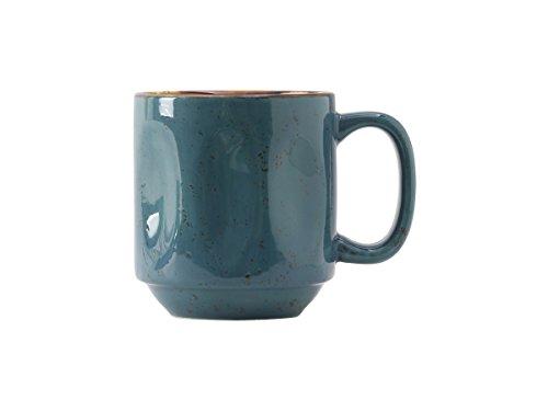 Tuxton Home THGGE150-4B Artisan Ceramic Mug, 12 oz, Azure Blue Geode