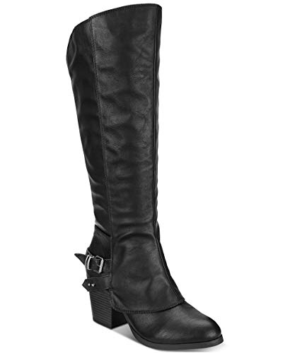 Price comparison product image American Rag Womens Emilee Almond Toe Knee High Fashion Boots,  Black,  Size 6.5