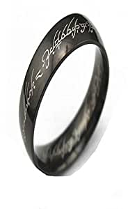 Lord of the Rings Titanium Black 4mm US Size 10