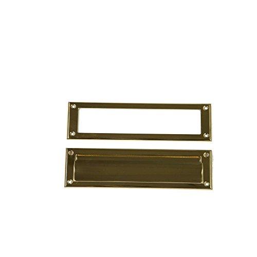 Brass Mail Slot - Gibraltar Mailboxes MS00BR03 Mail Slot, Brass