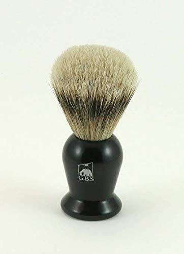 GBS 100% Silvertip Black Handle Badger Shaving Brush Comes with Chrome Stand SBBSBCS