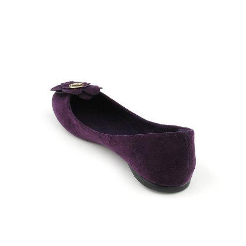 Suede Casual S Shiekh Factor Shiekh Womens S Factor PU Flat Purple Womens Casual P1AwdqxA