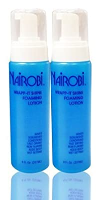 "Nairobi Wrapp-It Shine Foaming Lotion 8 fl. oz. (237 ml)""Pack of 2"""