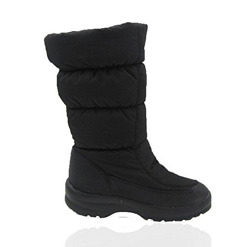 Comfy Moda Dames Winter Sneeuw Ijs Laarzen Waterdicht Gegarandeerd Met Membraan Vol Bont Gevoerd New York Zwart