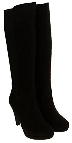 Marco Tozzi Mujer Botas Altas de Estiramiento Negro
