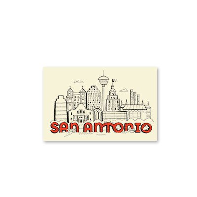 Silver Papery City of San Antonio Notecards - Box of 10 -