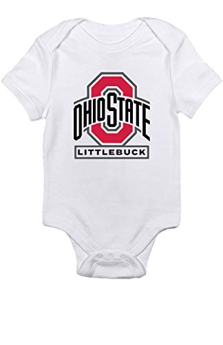 TeeNow - Ohio State Littlebuck - NCAA Ohio College Football - Sports Baby Infant Onesie/Bodysuit - Boy/Girl (3M, White) (Osu Vs U Of O Civil War)