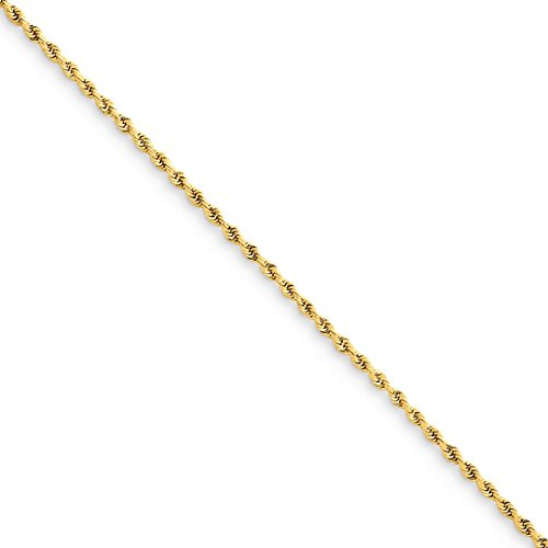 ICE CARATS 14kt Yellow Gold 1.50mm Link Rope Anklet Ankle Beach Chain Bracelet Fine Jewelry Ideal Gifts For Women Gift Set From Heart 14kt Gold Elephant Bracelet
