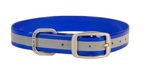 Dublin Dog 17-Inch to 21.5-Inch KOA Reflective Waterproof Dog Collar, Large, Blue