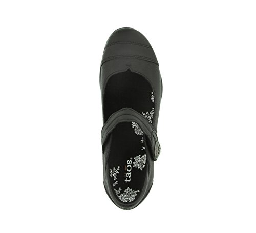 Taos Women's Applause Mary Jane Flat Black Wrinkled Leather free shipping fast delivery discount original outlet store cheap online cheap visit new discount latest collections B0nle
