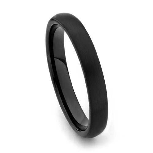4MM-Wellingsale-LUXE-Series-Comfort-Fit-Wedding-Band-Ring-with-Black-PVD-Coating-and-Brushed-Matte-Finish-for-Men-and-Women-Multiple-Sizes-Available