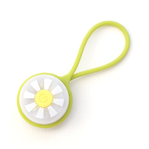 Tech Candy Bright Spot Purse Light Soft Loop for a Dark Big Bag or Backpack or Wine Glass Charm Flashing Camping Running Green Yellow Sunshine (Flashing Charm)