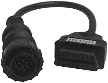 SODIAL Mb 14 Pin To Obdii Obd Ii Obd2 Obd-2 For Mercedes Benz Sprinter 14Pin To 16Pin Adapter