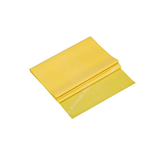 TheraBand Resistance Bands, 5 Foot, 15 Count Professional Latex Elastic Bands For Upper & Lower Body Exercise, Physical Therapy, Pilates, Home Workouts, Rehab, Yellow, Thin, Beginner Level 2 by TheraBand (Image #3)