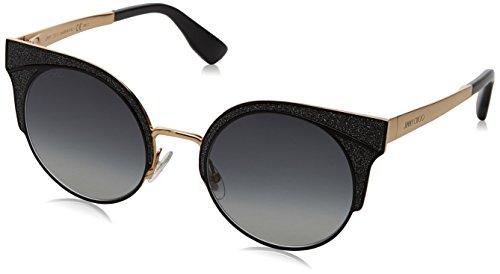 Jimmy Choo Ora/S 1KK Black / Gold Ora/S Round Sunglasses Lens Category 3 Size - Sunglasses Category 5
