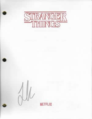 Joe Keery In-person signed Stranger Things pilot script at Amazon's