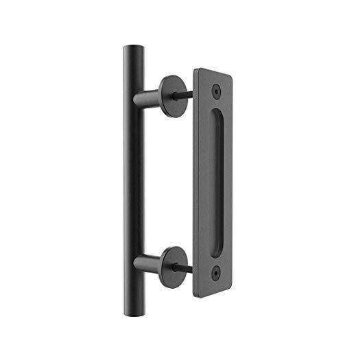 WjDmY Sliding Barn Door Handle Pull and Flush Hardware Set for Barn Door Gates Garages Sheds Rustic Style
