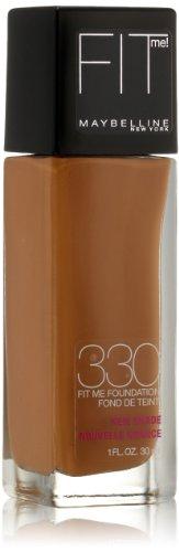 Maybelline New York Fit Me! Foundation, 330 Toffee, 1.0 Fluid Ounce (Packaging may vary) - Maybelline Fit Me 330