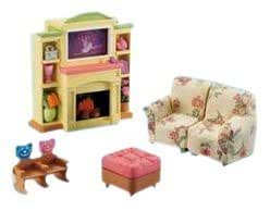 fisher price loving family dollhouse family room toys games. Black Bedroom Furniture Sets. Home Design Ideas