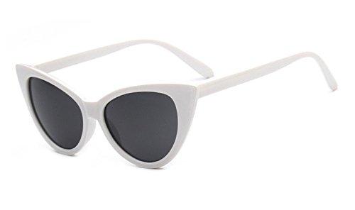 Vintage Gafas para gato technolog Moda Nueva Gafas gafas Grande de de Blanca ojo diseñador de Cateye 2018 mujeres sol marca espejo de las qbling q68zIz