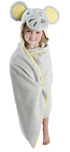 Kids Hooded Bath Towel  Elephant Design   Premium Ultra Soft and Extra Large Hooded Towel for Kids   Kids Hooded Towel for Girls and Boys by Little Tinkers World (Hooded Bath Towel Towels Hooded Bath)