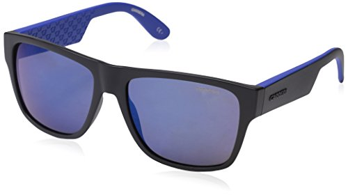 Carrera Men's Ca5002ls Rectangular Sunglasses, Black/Blue/Brown/Blue Sky Mirror, 57 - Carrera Black Sunglasses