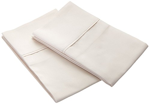 Bonne Nuit 400 Thread Countding Solid Set of 2 Pillow Cases 100% Cotton Sateen Wrinkle Resistant-King Size Solid Ivory Color from Bonne Nuit