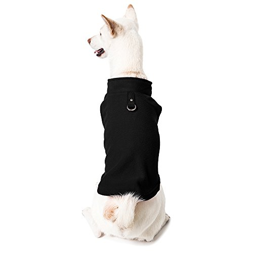 Gooby Every Day Fleece Cold Weather Dog Vest for Small Dogs, Black, ()