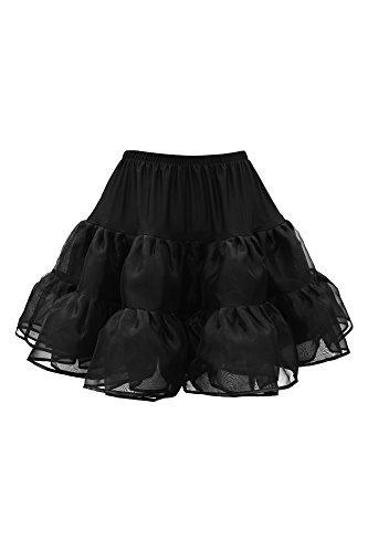 BlackButterfly Kids Organza Petticoat Skirt (Black, 7-8 yrs)