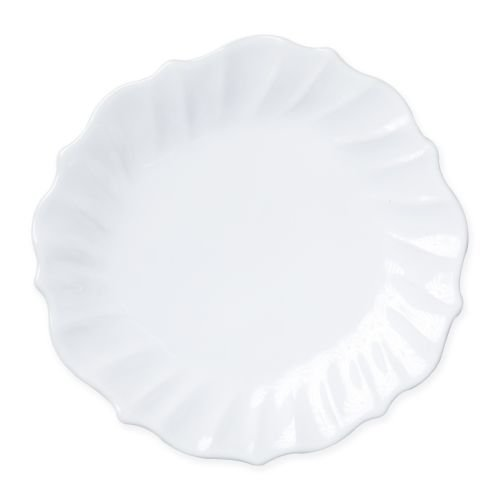 - Vietri Incanto Stone White Ruffle Dinner Plate