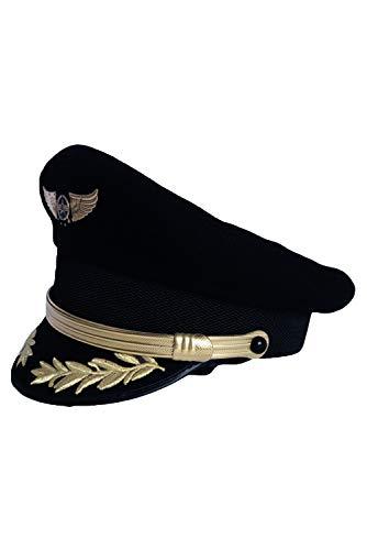 Fanituhan 機長 コスプレ なりきり キャップ 飛行機 制服コスチューム用小物 ハット 仮装 パイロット 帽子 男女共用