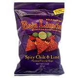 El Sabroso Baja Limon Chile & Lime Flavored Tortilla Chips 3oz bags (3 pack)
