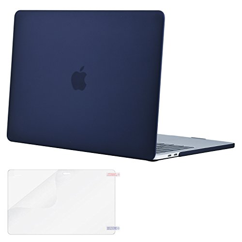 Mosiso MacBook Pro 13 Case 2017 & 2016 Release A1706 / A1708, Plastic Hard Case Shell Cover with Screen Protector for Newest Macbook Pro 13 Inch with/without Touch Bar and Touch ID, Navy Blue