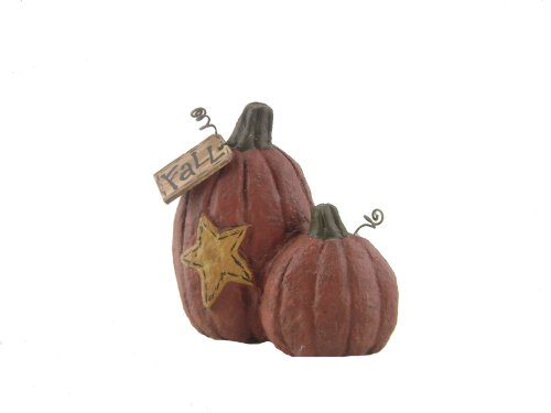 Craft Outlet Papier Mache Two Pumpkins with Star Figurine, 4-Inch