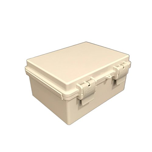 Bud Industries NBF-32012 Economy Box - Plastic Indoor Electrical Box - Standoff Wall Mounting Weatherproof Electrical Unit. Industrial Electrical Boxes