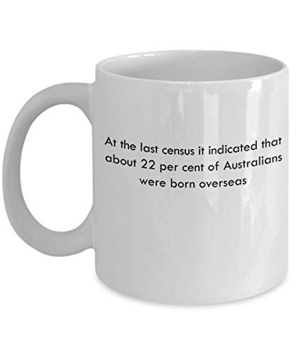 at The Last Census it indicated That About 22 per Cent of Australians were Born Overseas 11 oz Coffee Mug - A Census Taker Ceramic Cup Gift for Cen (Best Australian Gifts To Send Overseas)