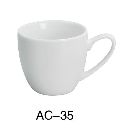 Yanco AC-35 ABCO Espresso Cup, 3.5 oz, Porcelain, Super White, Pack of - Porcelain Ounce 3.5
