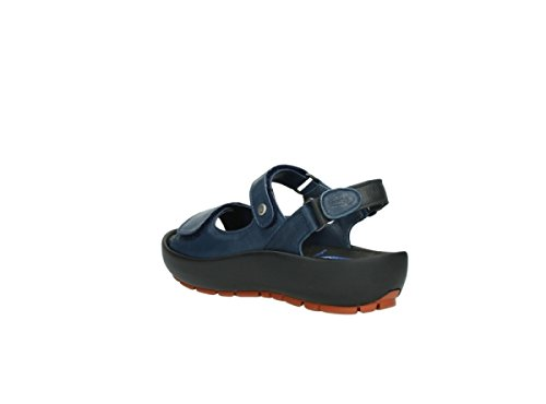 Blau Denim Womens Wolky Blu 282 Leder Rio Sandals Leather 4wgWqxRv0