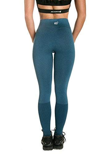 9b348f8b94075a Jed North Women's Seamless Athletic Gym Fitness Workout Leggings Teal