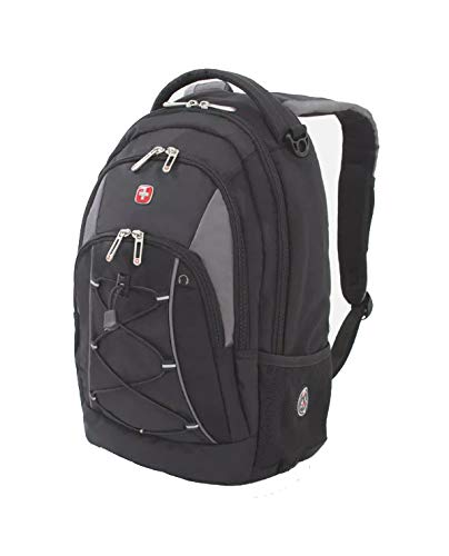 Swiss Gear Bungee Backpack, Black/Grey One Size